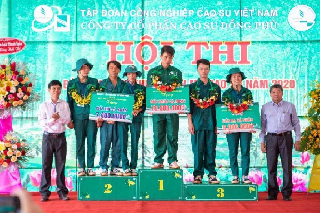 Tân Lập 4 lần liên tiếp giải nhất Bàn tay vàng Cao su Đồng Phú