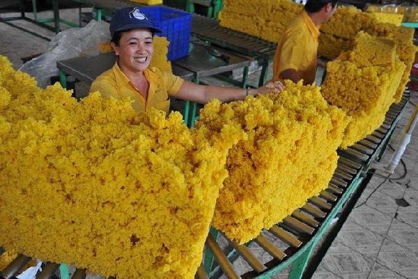 Xuất khẩu cao su tháng 6 bật tăng gần 47% về lượng