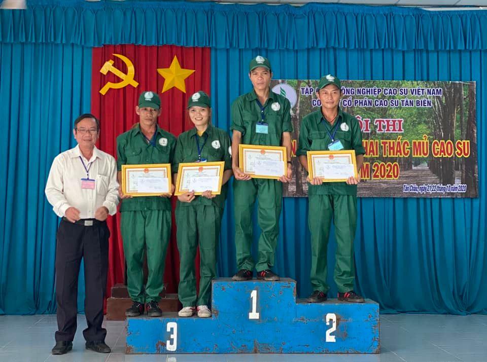 Giải Nhất thi Bàn tay vàng Cao su Tân Biên gọi tên Suối Ngô