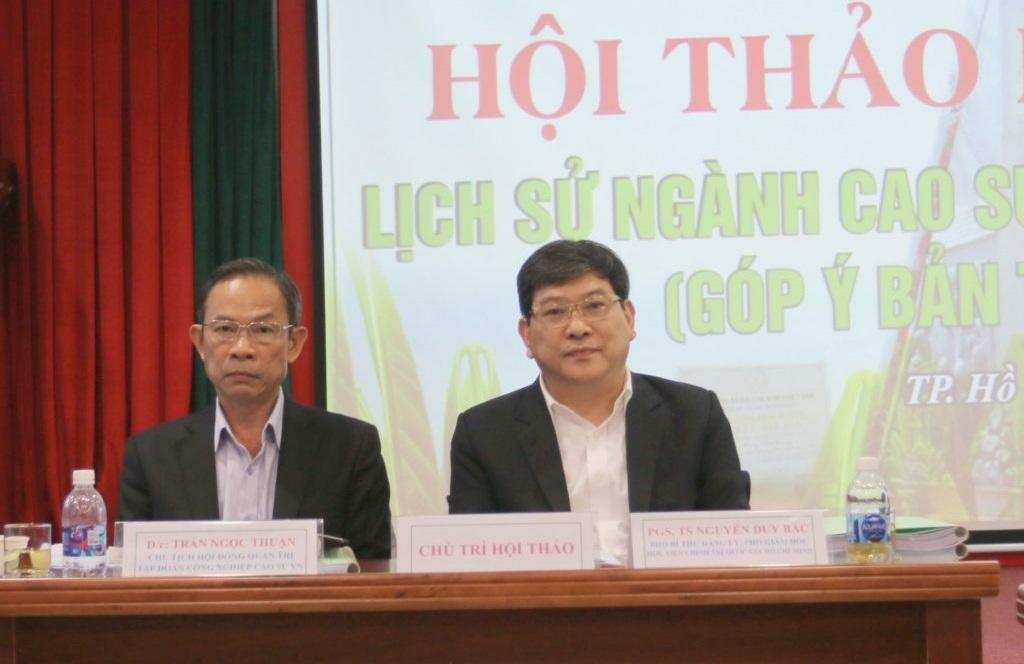 Góp ý bản thảo sách Lịch sử ngành cao su Việt Nam