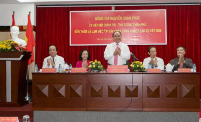 Thủ tướng Nguyễn Xuân Phúc thăm và làm việc tại VRG