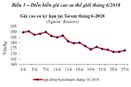 Báo cáo ngành hàng cao su, tháng 6/2018
