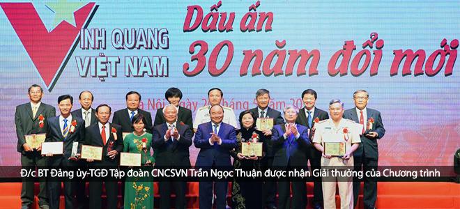 TGĐ VRG Trần Ngọc Thuận được vinh danh cá nhân xuất sắc trong 30 năm đổi mới
