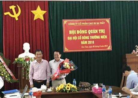 Ông Đặng Công Thoại giữ chức Chủ tịch HĐQT Cao su Sa Thầy