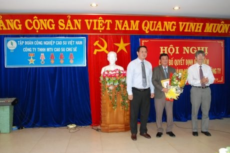 Bổ nhiệm ông Đặng Đức Tri giữ chức vụ Chủ tịch HĐTV Cao su Chư Sê