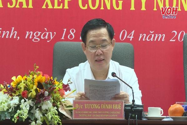 Phó Thủ tướng Vương Đình Huệ: TĐ Cao su Việt Nam tập trung đầu tư vào ngành nghề, SP có lợi thế