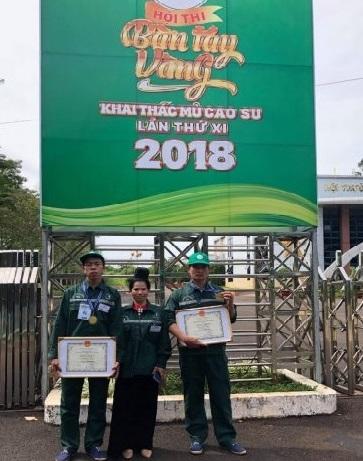 2 công nhân Cao su Sơn La đạt kiện tướng cấp ngành