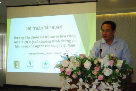 """VRG tổ chức Hội thảo tập huấn """"Hướng đến chuỗi giá trị cao su bền vững"""" tại Gia Lai"""
